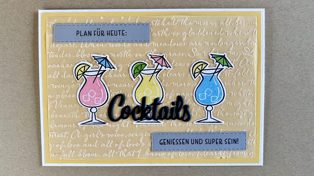 """Nothings better than Cocktails"" bzw. ""Nichts geht über Cocktails"" Stempelset von Stampin'Up!"