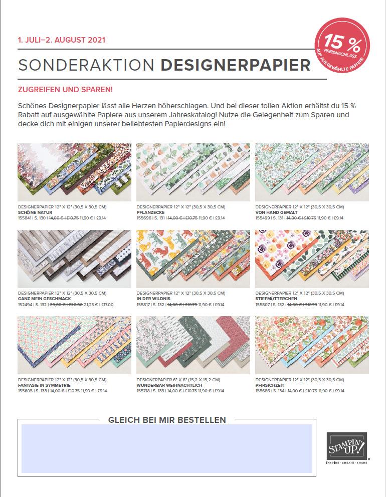 Sonderaktion Designerpapier Stampin up